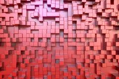 Le rouge cube des extrusions Images stock