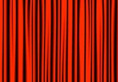Le rouge de luxe drape le rideau avec beaucoup ombre Photographie stock libre de droits