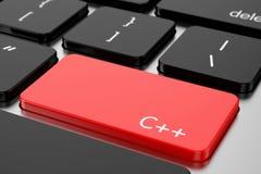 Le rouge entrent dans le bouton avec le langage C ++ de code machine illustration de vecteur