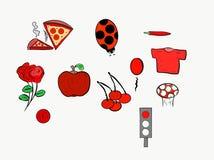 Le rouge est la couleur que vous aimez illustration libre de droits