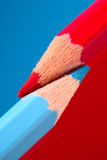 Le rouge et corrige Photos libres de droits