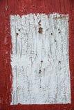 Le rouge et le blanc ont peint le panneau en bois, fond, papier peint Image stock
