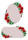 Le rouge fleurit la décoration Illustration Libre de Droits