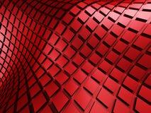 Le rouge géométrique rouge lumineux cube le fond Photo stock