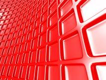 Le rouge géométrique rouge lumineux cube le fond Image libre de droits