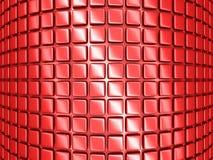 Le rouge géométrique rouge lumineux cube le fond Photos stock