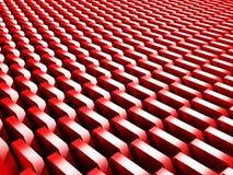 Le rouge géométrique rouge lumineux cube le fond Photo libre de droits