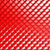 Le rouge géométrique rouge lumineux cube le fond Image stock
