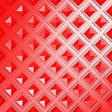 Le rouge géométrique rouge lumineux cube le fond Images stock