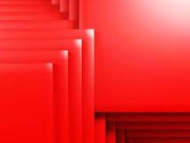 Le rouge géométrique rouge lumineux cube le fond Photographie stock libre de droits