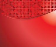 Le rouge ondule avec la mosaïque illustration de vecteur