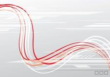 Le rouge ondule le fond illustration de vecteur