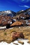 Le rouge oscille le stationnement d'état le Colorado Images libres de droits