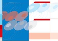 Le rouge pointille le descripteur de fond Image libre de droits