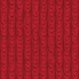 Le rouge sans joint drapent ou le fond de rideau Photographie stock libre de droits