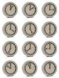Le roulement à billes aiment une horloge Image stock