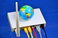 Le routeur - connexion internet, le World Wide Web Routeur — dispositif de réseau pour l'accès Internet et pour le réseau d'entre photo stock