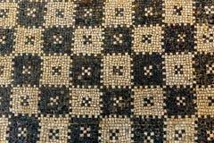 Le rovine antiche del mosaico si chiudono su in villa romana in Risan, Monteneg Immagini Stock Libere da Diritti