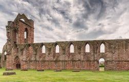Le rovine antiche di Arbroath Abbey Scotland Fotografie Stock Libere da Diritti