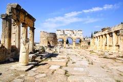 Le rovine antiche di Hierapolis Fotografia Stock Libera da Diritti