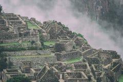 Le rovine antiche di Machu Picchu peru Il Sudamerica Nessuna gente Fotografie Stock Libere da Diritti