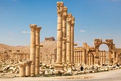 Le rovine antiche di Palmira, Siria immagini stock libere da diritti