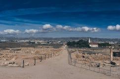 Le rovine antiche si avvicinano al pathos fotografia stock libera da diritti