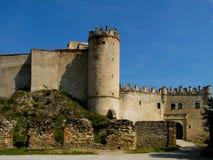 Le rovine del castello Boskovice Fotografia Stock Libera da Diritti
