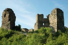 Le rovine del castello di Brincko a Zabreh fotografie stock libere da diritti