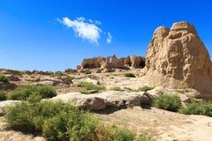 Le rovine del jiaohe a turpan Fotografie Stock