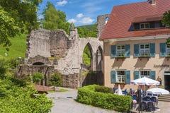 Le rovine del monastero di tutti i san in Oppenau fotografia stock libera da diritti