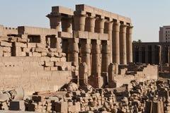 Le rovine del tempiale egiziano antico Fotografia Stock Libera da Diritti