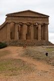 Le rovine del tempio di Concordia, Agrigento Fotografie Stock Libere da Diritti