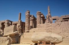 Le rovine del tempio di Karnak Luxor Egypt Fotografia Stock Libera da Diritti