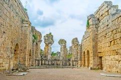 Le rovine del tempio in Perge Fotografia Stock