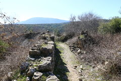 Le rovine del villaggio del Maronites Immagini Stock Libere da Diritti