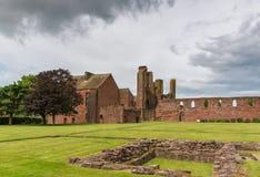 Le rovine dell'abbazia & dei giardini di Arbroath Fotografia Stock