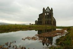 Le rovine dell'abbazia di Whitby Fotografia Stock