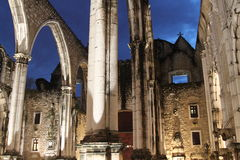 Le rovine della chiesa Fotografie Stock Libere da Diritti
