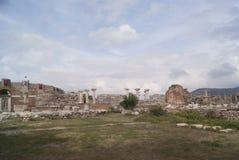 Le rovine della chiesa in Turchia Immagini Stock