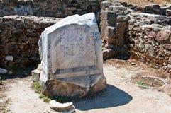 Le rovine della città antica del lato, Turchia Fotografia Stock