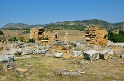 Le rovine della città antica di Hierapolis Fotografie Stock