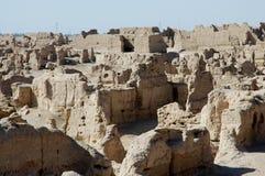Le rovine della città antica di Jiaohe Immagini Stock Libere da Diritti