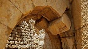 Le rovine della fortezza del ` s del Nimrod in Israele Fotografie Stock Libere da Diritti