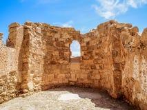 Le rovine della fortezza di Masada, Israele Fotografia Stock Libera da Diritti