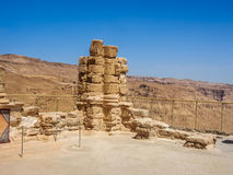 Le rovine della fortezza di Masada, Israele Fotografia Stock