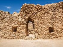 Le rovine della fortezza di Masada, Israele Immagini Stock Libere da Diritti