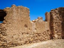 Le rovine della fortezza di Masada, Israele Fotografie Stock