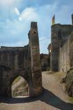 Le rovine della fortezza imperiale Beilstein inespugnabile, tedesche Immagine Stock Libera da Diritti