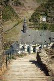 Le rovine della fortezza imperiale Beilstein inespugnabile, tedesche Fotografia Stock Libera da Diritti